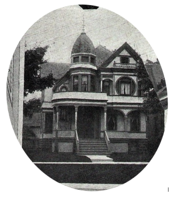 "The CE Bricker house, 1221 Pine Grove Avenue, Port Huron. From page 59 of Wm. Black's ""Port Huron in 1900."""
