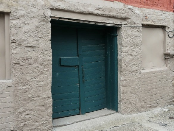 Historic alleyway door and wall, Port Huron.