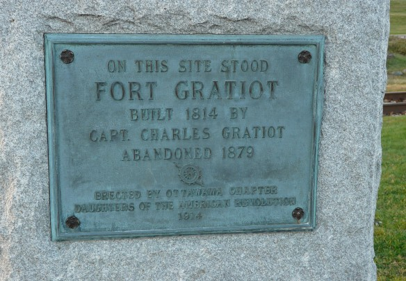 Fort Gratiot plaque. Located near the junction of Thomas Edison Parkway and Thomas Edison Drive, Port Huron.
