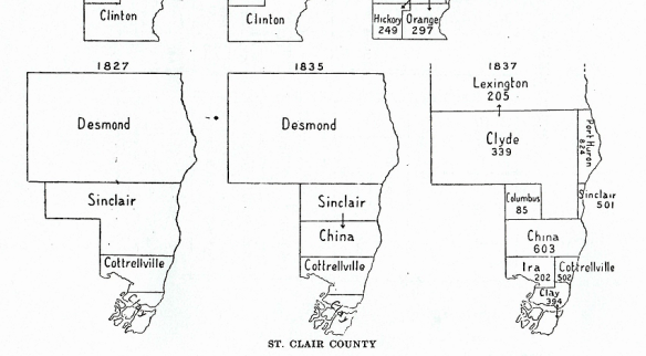 St. Clair County townships to 1837 (Fuller 1916, p xlv).