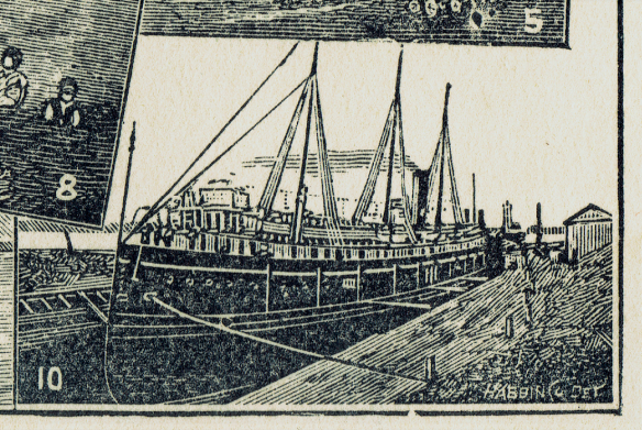 Port Huron dry dock image, 1896.