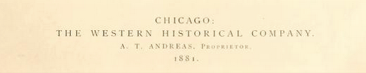 Part of title page of the 1881 History of Northern Wisconsin.