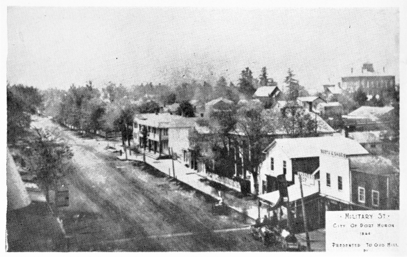 Very early view of Military Street
